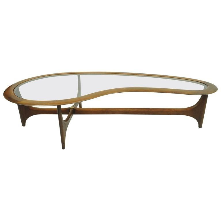 Kidney Shaped Glass Coffee Table 11