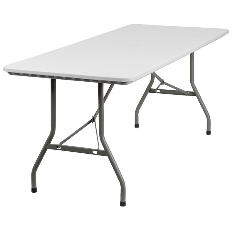 30 W X 72 L Granite White Plastic Folding Table Rb 3072 Gg By Flash Furniture Furniture Table Round Folding Table