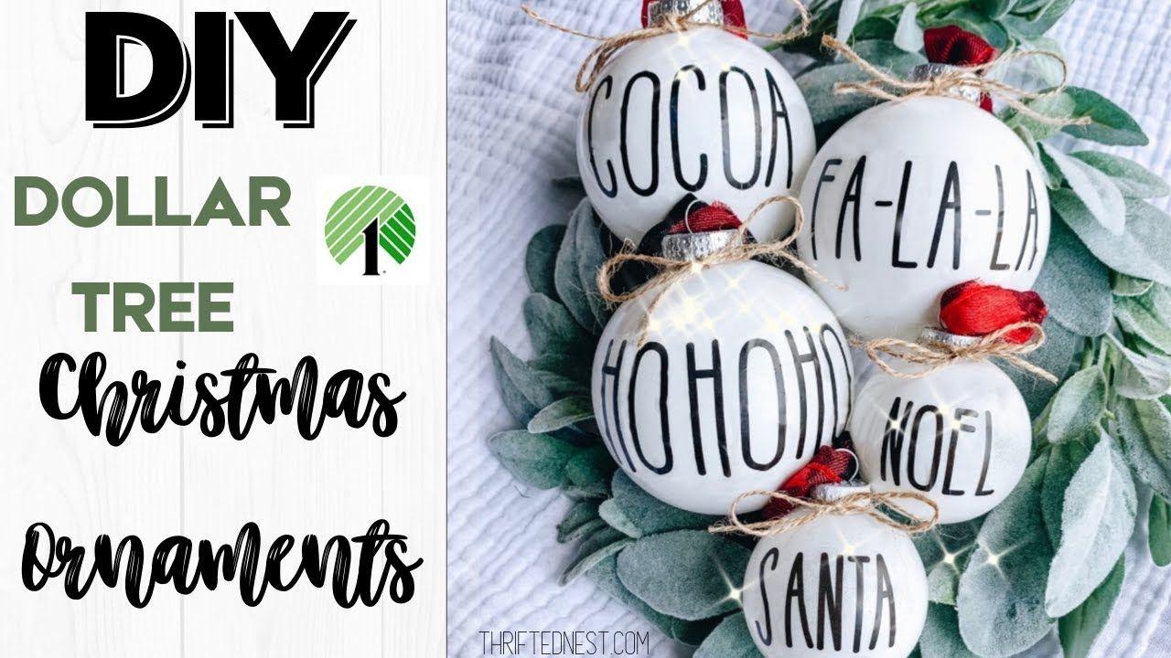 DOLLAR TREE Christmas Decor 2019 DIY Christmas Ornaments
