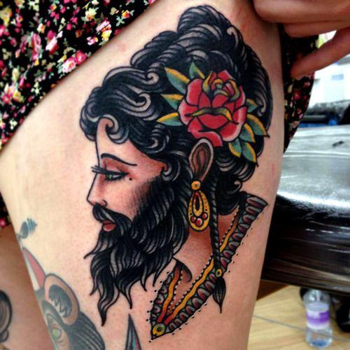 Bearded lady by Joe Ellis