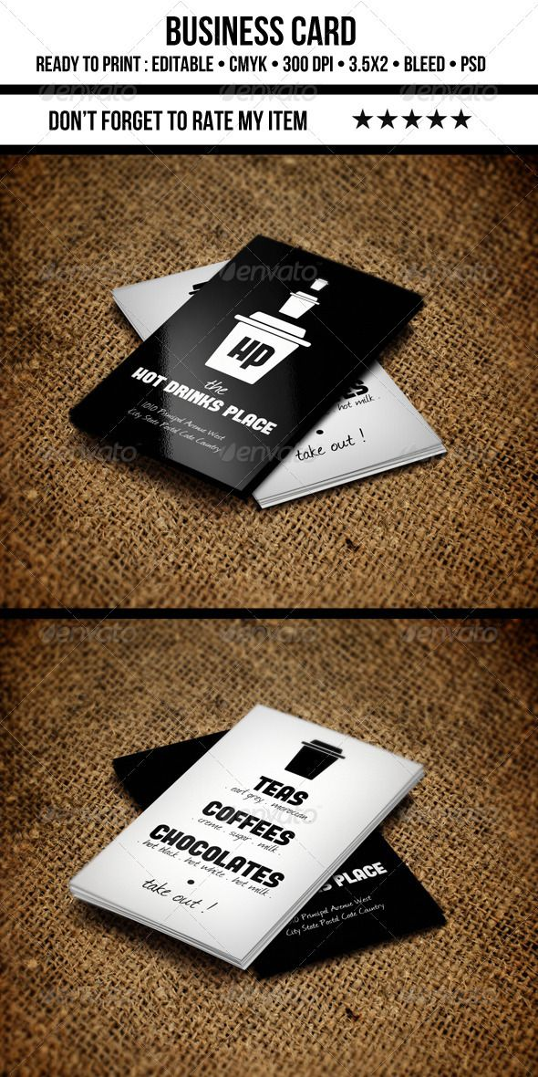 Coffee Business Card | Coffee business, Business cards and Business