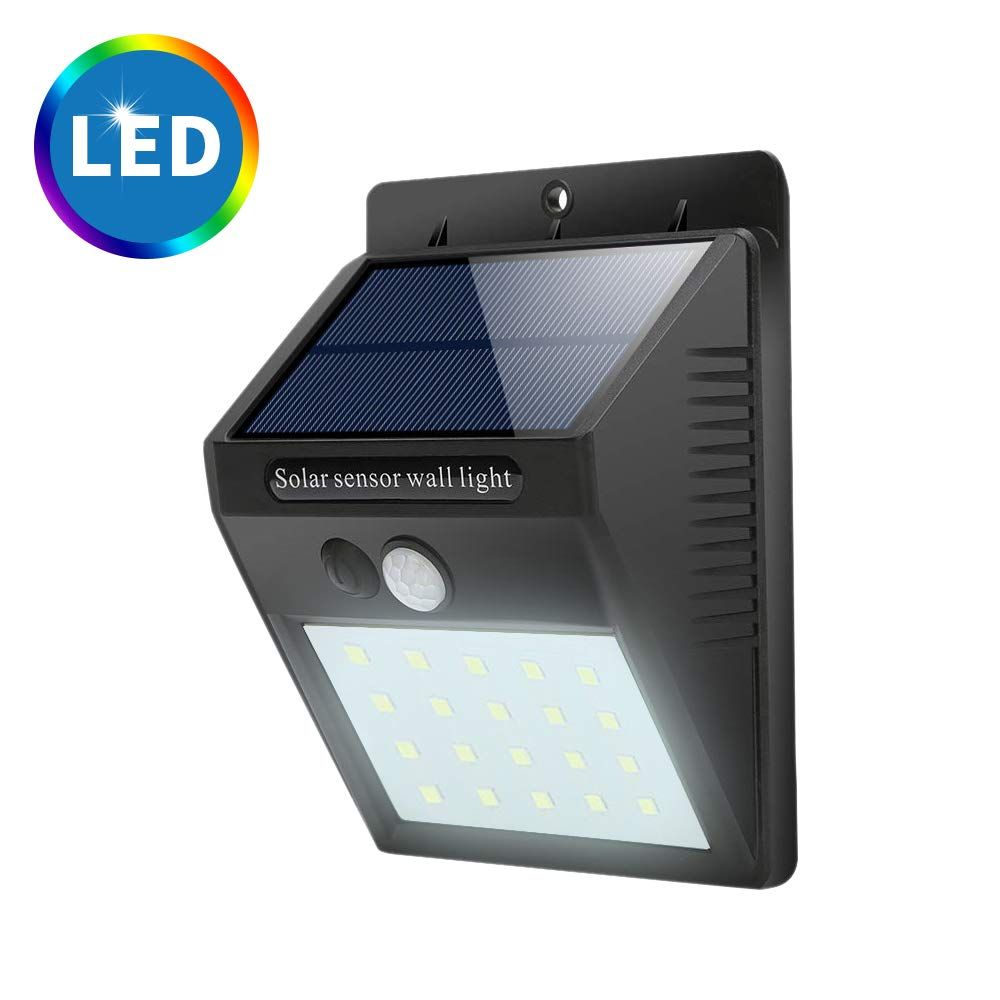New Upgraded 20 Led Solar Lights Outdoor Waterproof Motion Sensor Post Security Night Light For Patio Deck Yard Garden Auto On Off Lovely Novelty Outdoor Security Lights Solar Lights Sensor Lights Outdoor