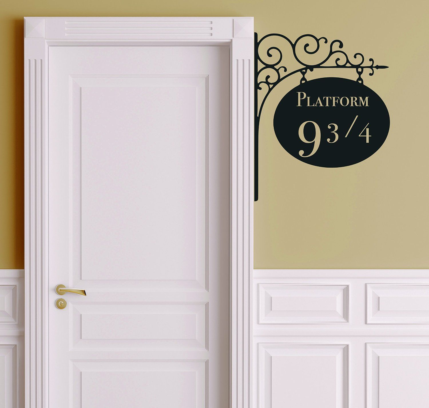 amazon com platform 9 3 4 version 2 harry potter door decor harry potter platform 9 door decal product can be applied to any smooth surface