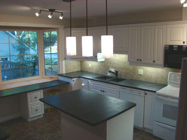 Basalt Slate Laminate Laminate Countertop Example Kitchen