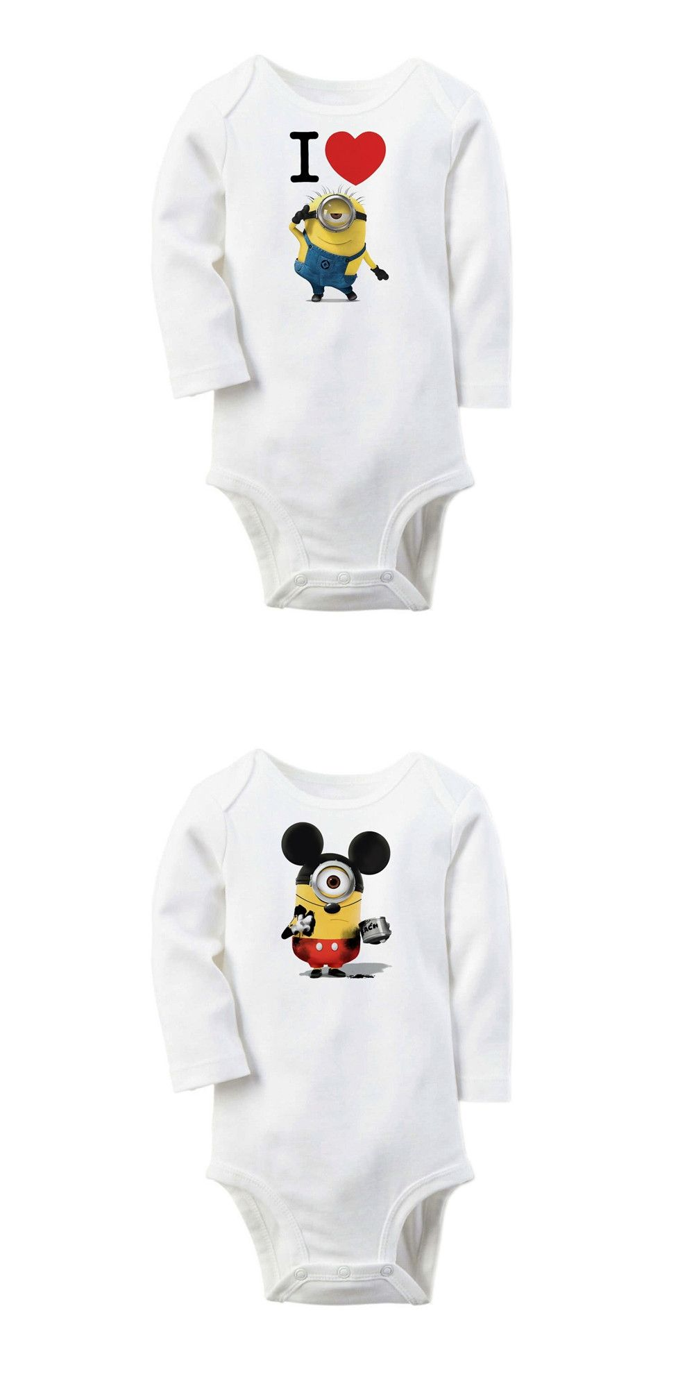 7b2612157 Winter Baby Body Suit Minions Printed Rompers new born Baby Body ...