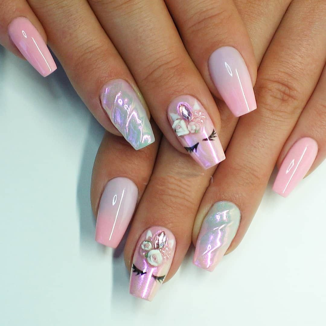 38 Magical Unicorn Nail Designs You Will Go Crazy For In 2020 Nail Art Courses Nail Art Instagram Unicorn Nails Designs