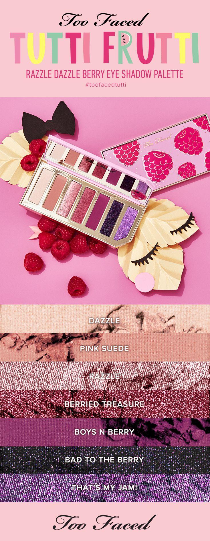 Razzle Dazzle Berry Eye Shadow Palette Beauty Makeup