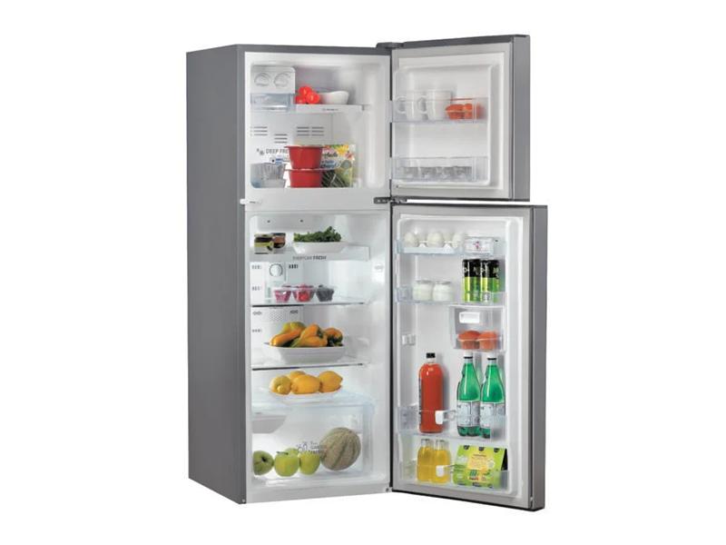 Whirlpool Double Door Refrigerator, silver, 262 liters – WTM322RSL in 2020  | Whirlpool refrigerator, Double doors, Double door refrigerator