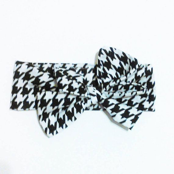 Houndstooth head wrap by ByrdieNestDesigns on Etsy