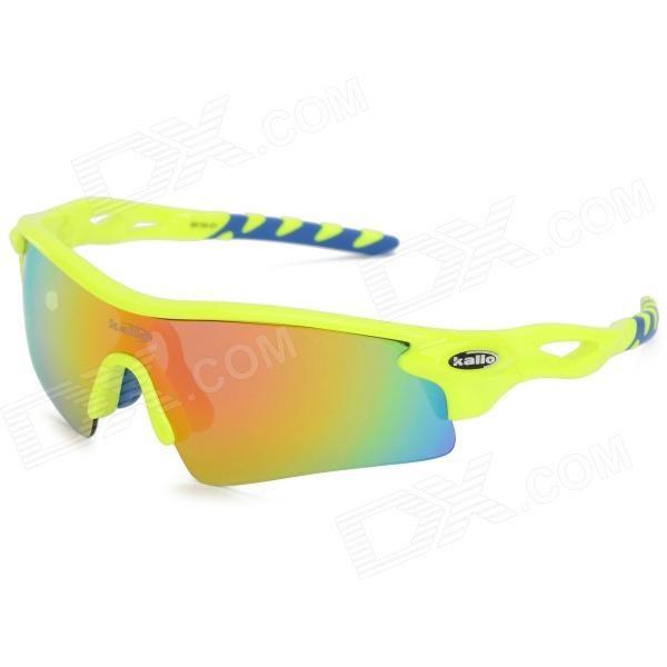 fd409da23b8 KALLO 99154 Outdoor Sports Polarized Sunglasses Goggles Set for Cycling -  Fluorescent Yellow Blue Price   31.12. Lens Color  Red REVO  Frame ...