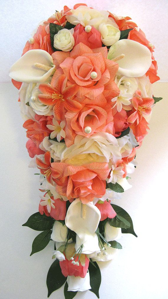 Wedding Bouquets Bridal Silk flowers 17 Piece Package Bridal Party ...