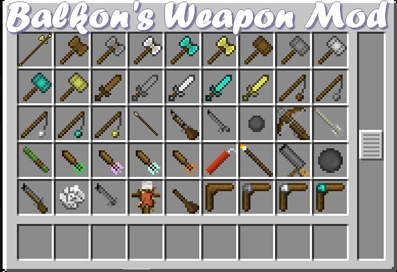 minecraft balkons weapon mod 1.7 2