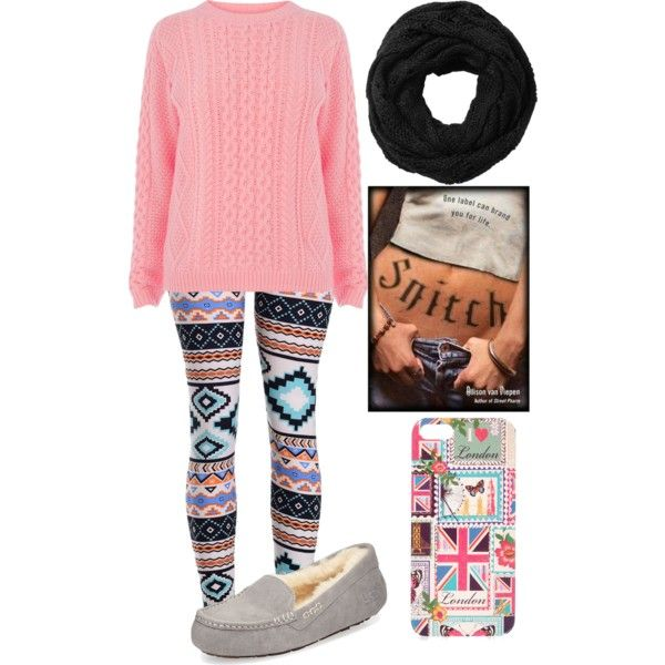 Curled Up With A Book by jordynchaput on Polyvore featuring polyvore, fashion, style, Warehouse, UGG Australia, Accessorize and Subtle Luxury