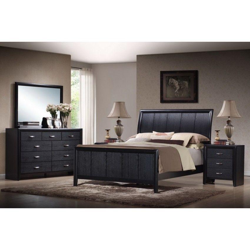 Black Contemporary Bedroom Set Unique Kima Black Queen 5 Piece Wooden Modern Bedroom Set  Queens Review