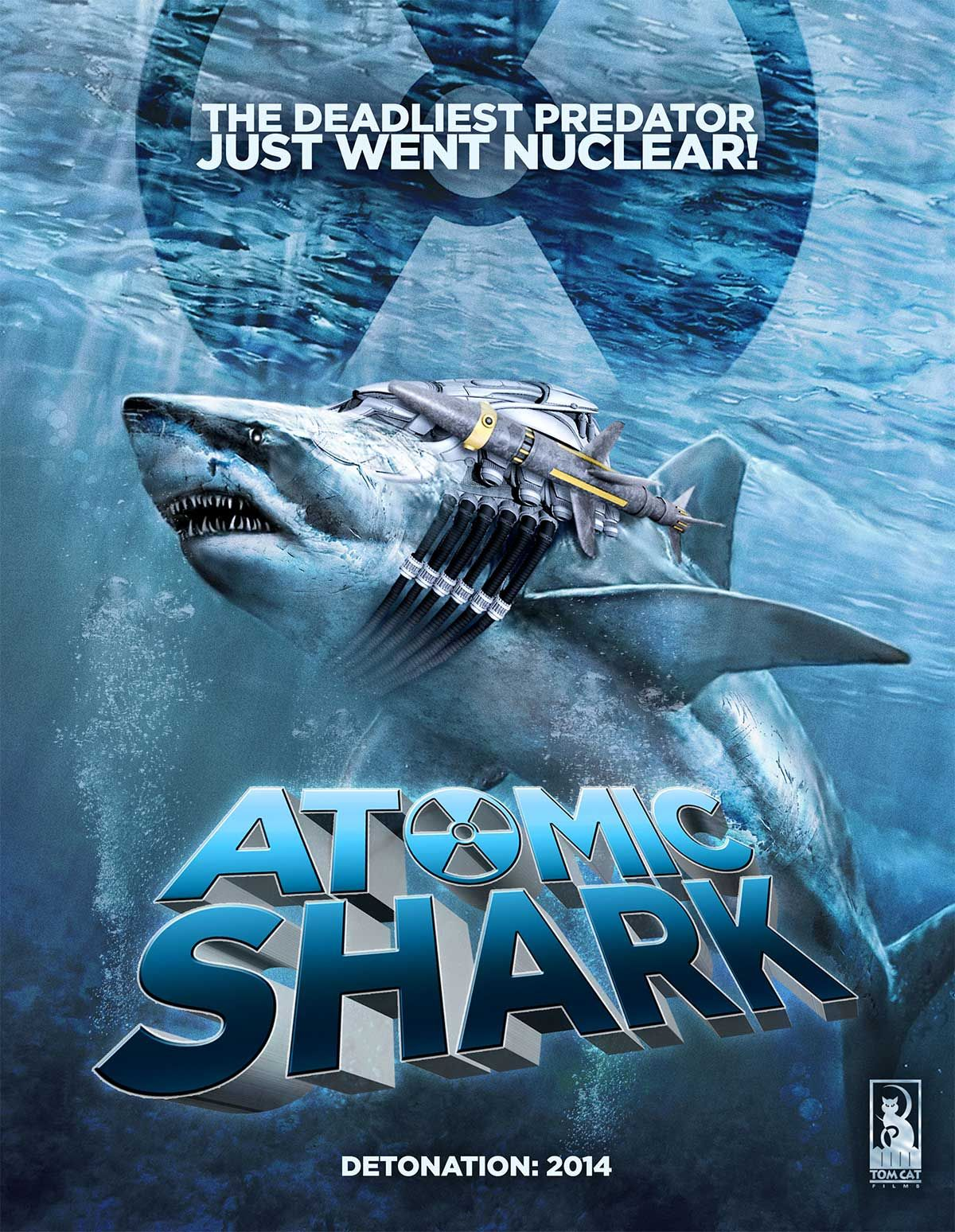 'Atomic Shark' Movie Poster - Hell Horror | Movie Posters | Pinterest | Shark and Horror