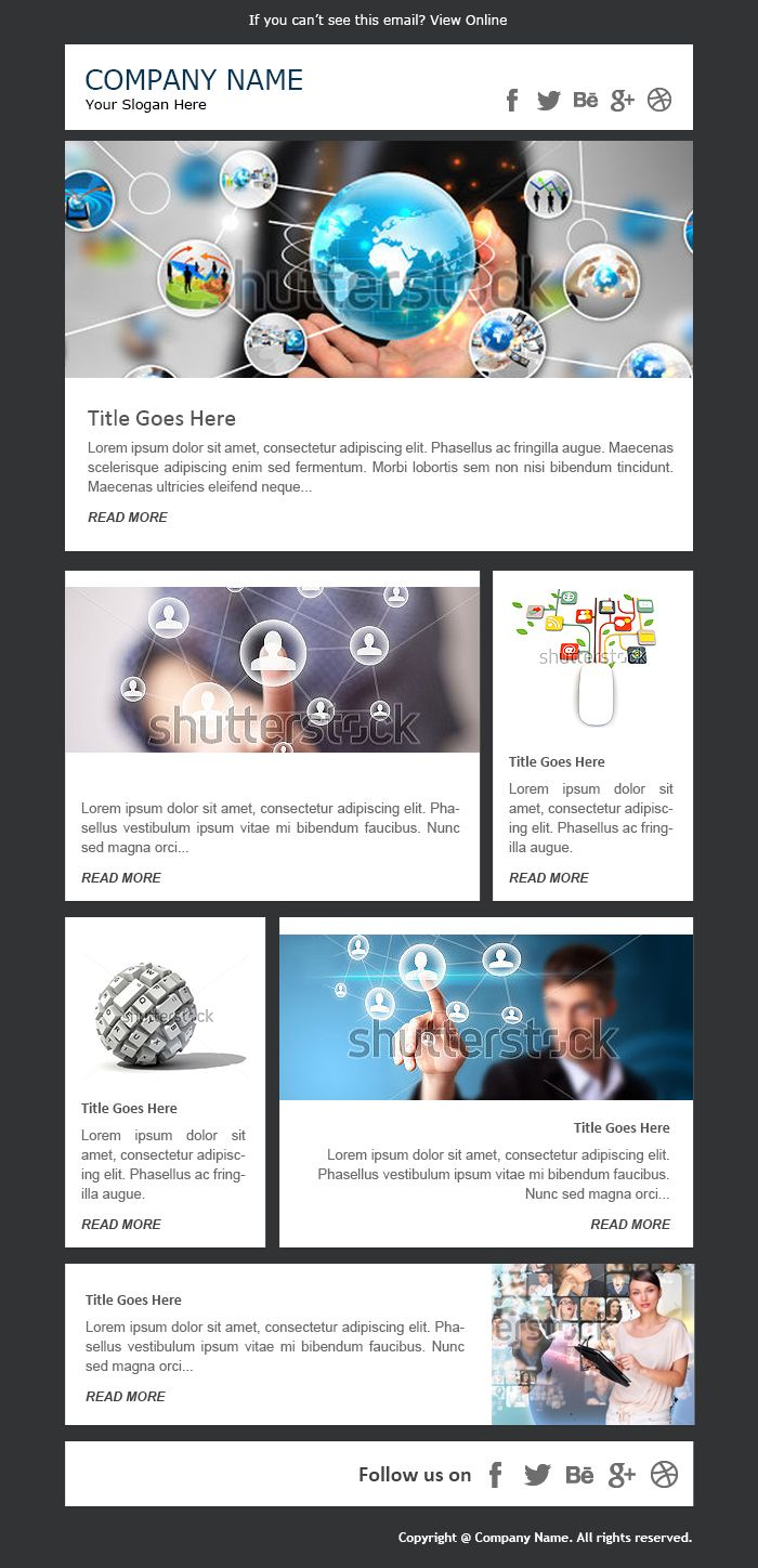 Email Newsletter Examples Business Email Templates Sample  E