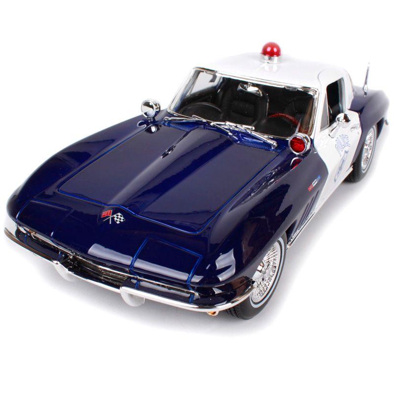 Maisto 1:18 1965 Chevrolet Corvette Police car Old Car model ...