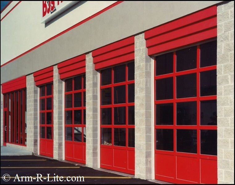 Service Station glass garage doors installed at BJu0027s wholesale club. & Service Station glass garage doors installed at BJu0027s wholesale ... pezcame.com