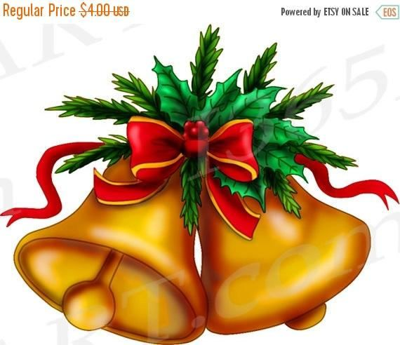 Buy 3 Get 1 Free Christmas Bell Clip Art Bell Invitation Etsy Holiday Clipart Christmas Bells Christmas Screen Savers
