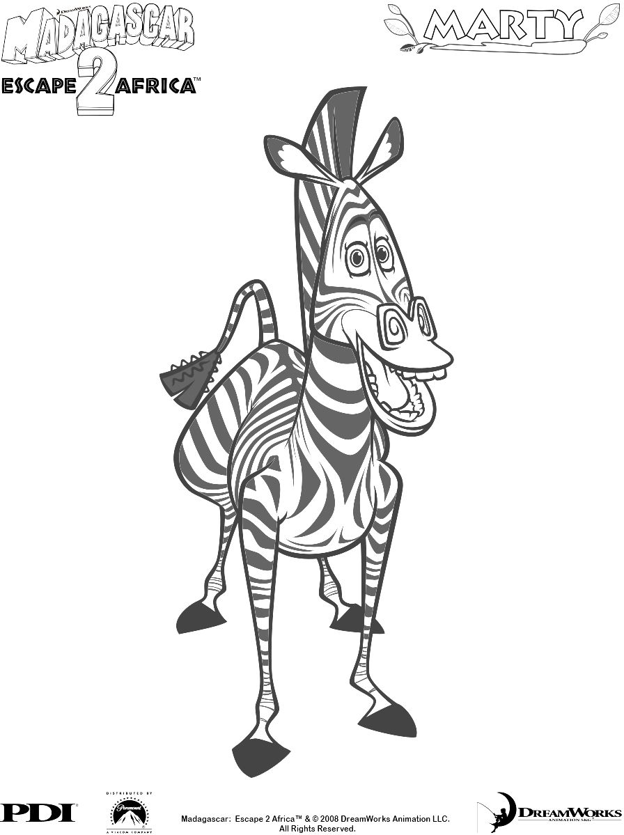 Coloring Page Madagascar Zebra Coloring Pages Cartoon Coloring Pages Coloring Pages
