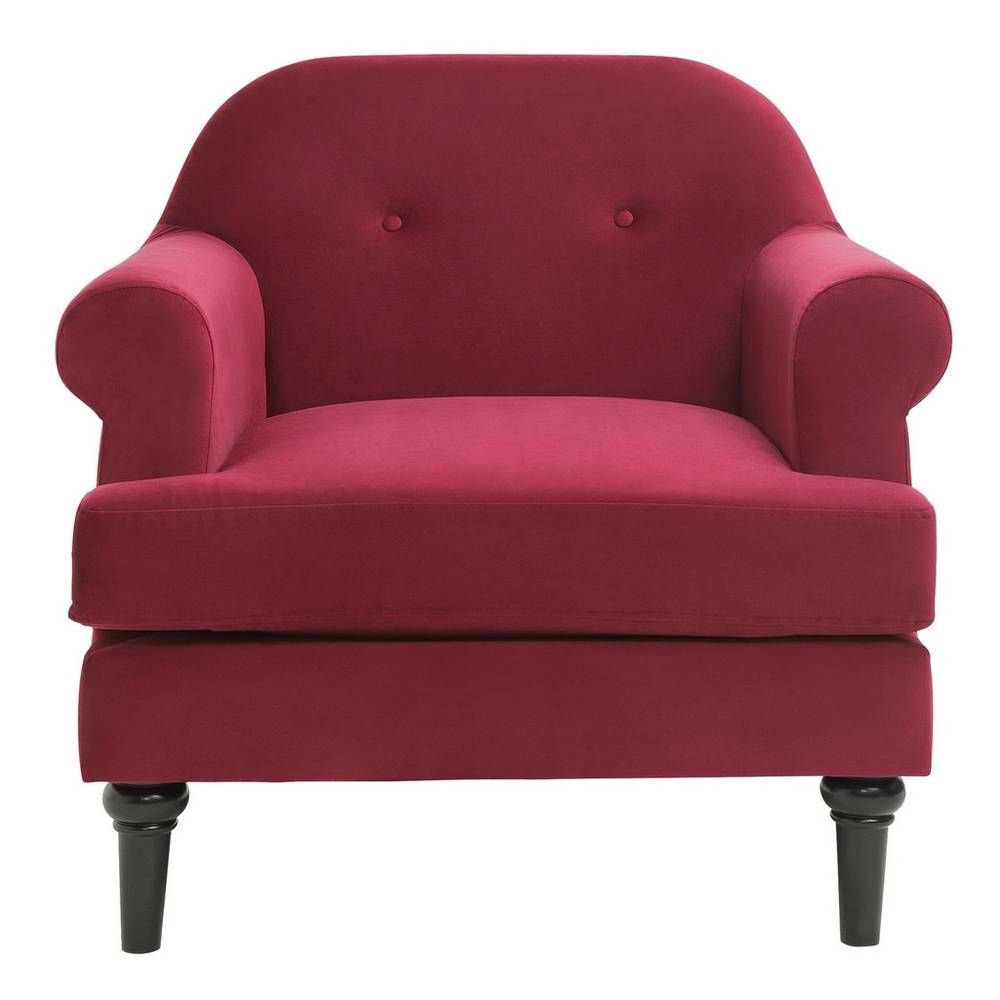Buy Argos Home Whitney Velvet Armchair - Cranberry ...