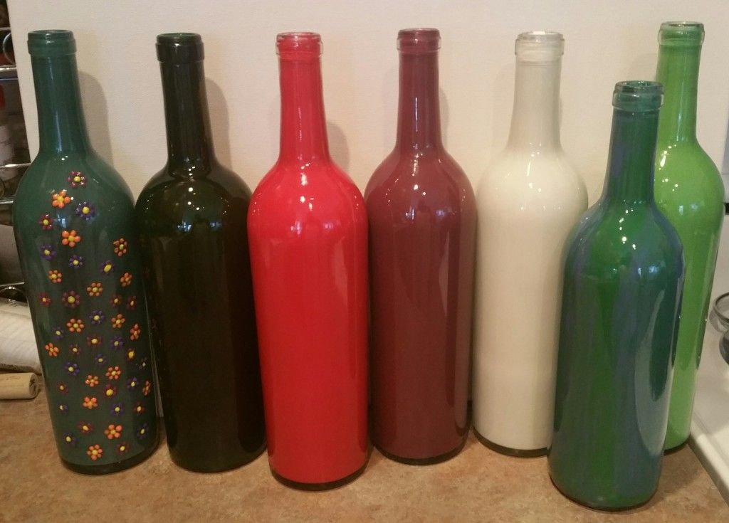diy painted wine bottles how to paint wine bottles in 5