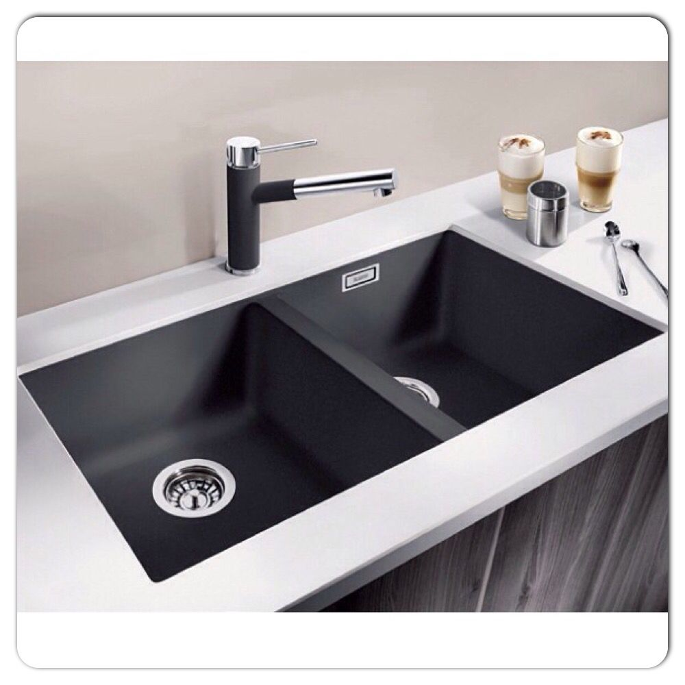 Black kitchen sinks and taps - Blanco Matte Black Sink And Tap