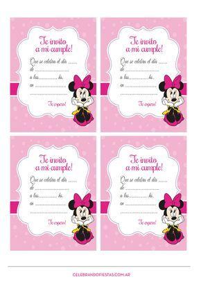 Pin De Stepaosan En Tarjetas Invitaciones Minnie
