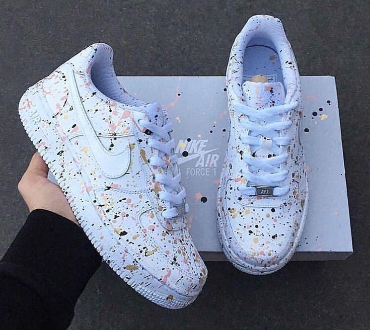 tennis #nike with colored paint detail