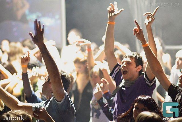 Crowd on the dancefloor . Russia