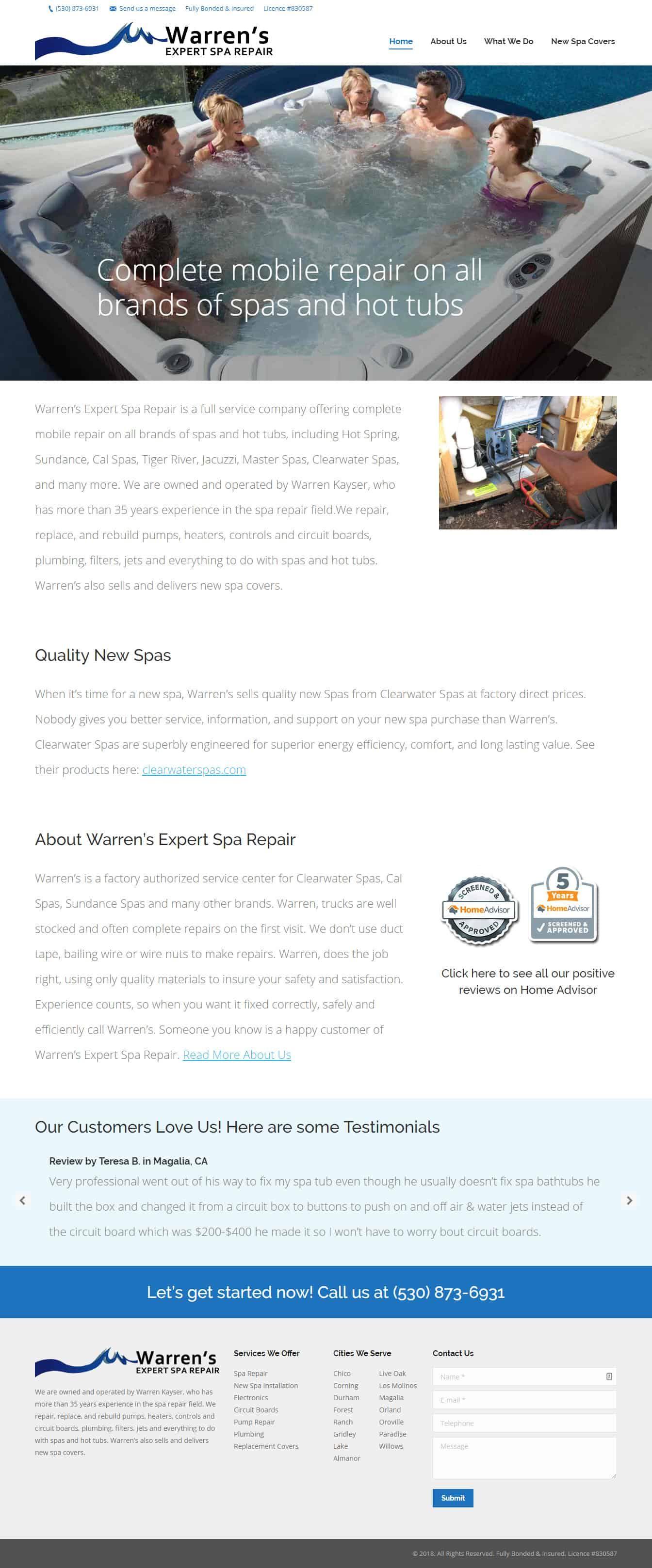 Warren S Expert Spa Repair Spa Repair Web Design Company