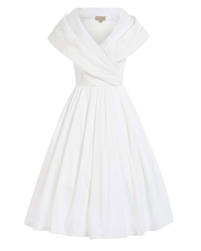 b7ffbcafd4e2 bridal vintage φόρεμα chic taffeta 50s off white