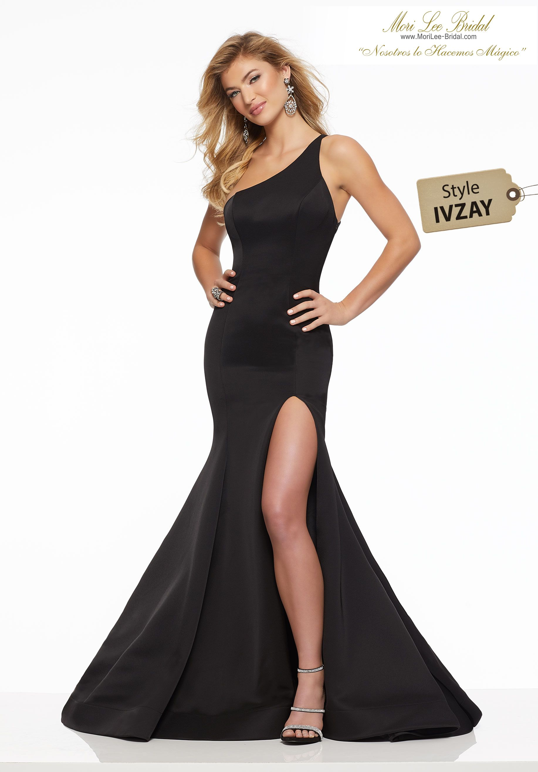 601a5e983cf Jersey Chic One Shoulder Jersey Prom Gown Featuring a High Side Slit.  Sizing  00