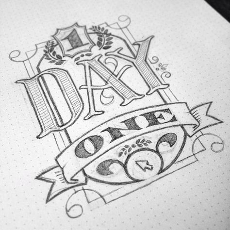 """<3 this typography/hand lettering combo, especially the depth of """"day""""."""