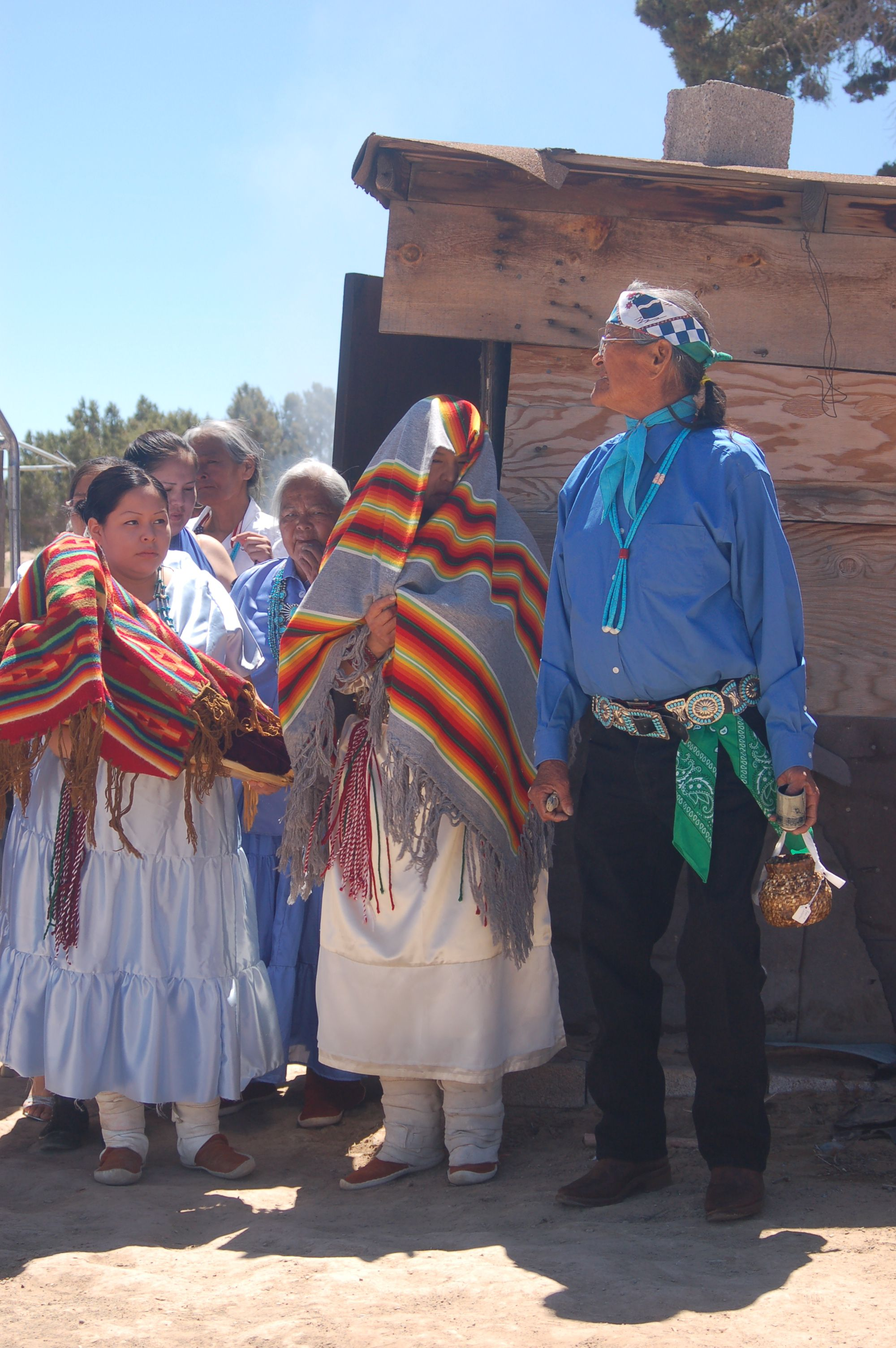Traditional Navajo Wedding Ceremony Their Basket Is The