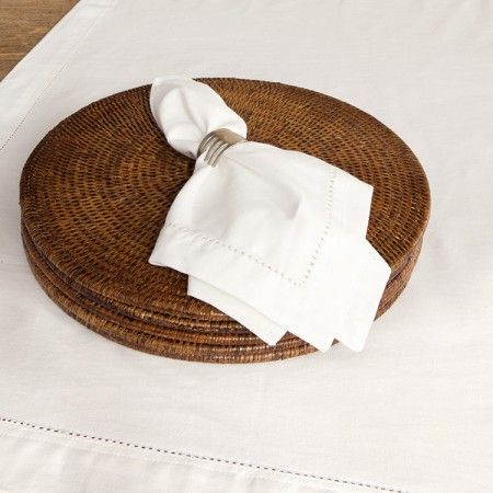 Hemstitched Tablecloths White