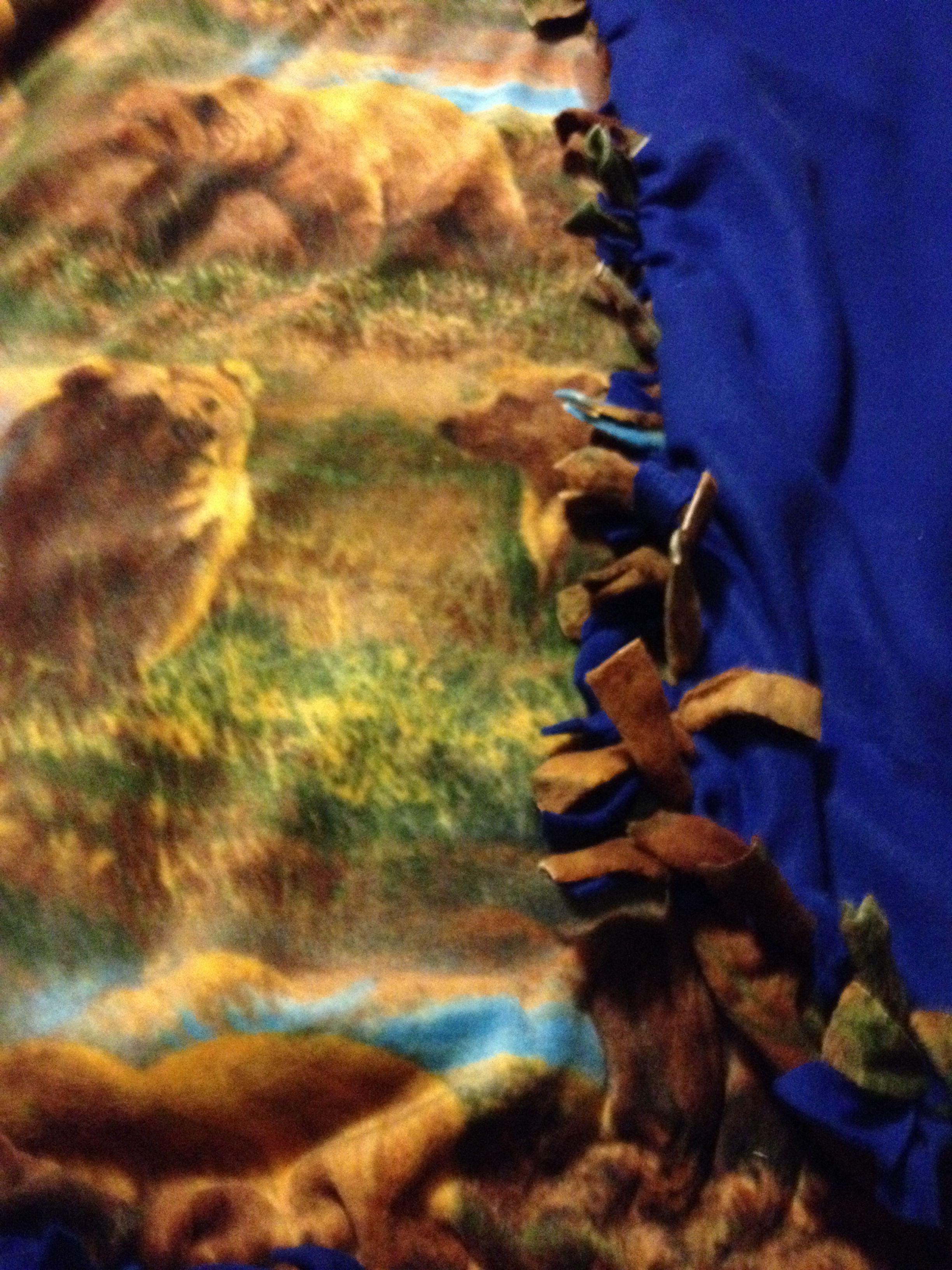 Bears tie blanket blankets pinterest tie blankets blanket and