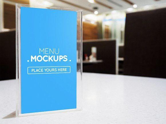table tent menu mockup 1 restautant table mock up pinterest