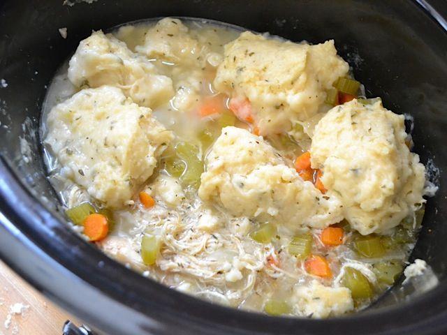 Slow Cooker Chicken and Dumplings - Budget Bytes #chickendumplingscrockpot