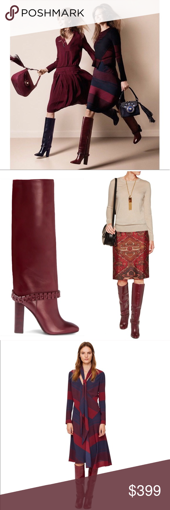 a975a2ae25b5 Stretch Knee High Boots · Tory Burch Sarava Brown Tall Leather Boot New in  box. Have store wear (creasing