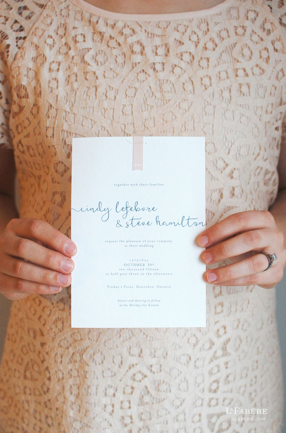 Delicate whimsical wedding invitation design by lafabre lafabere delicate whimsical wedding invitation design by lafabre lafabere stopboris Image collections