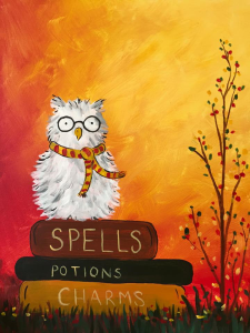 Get Event Details For Sat Feb 04 2017 11 00 1 00pm Spellbound Scholar Join The Paint And Sip Pa Harry Potter Canvas Fall Canvas Painting Halloween Painting