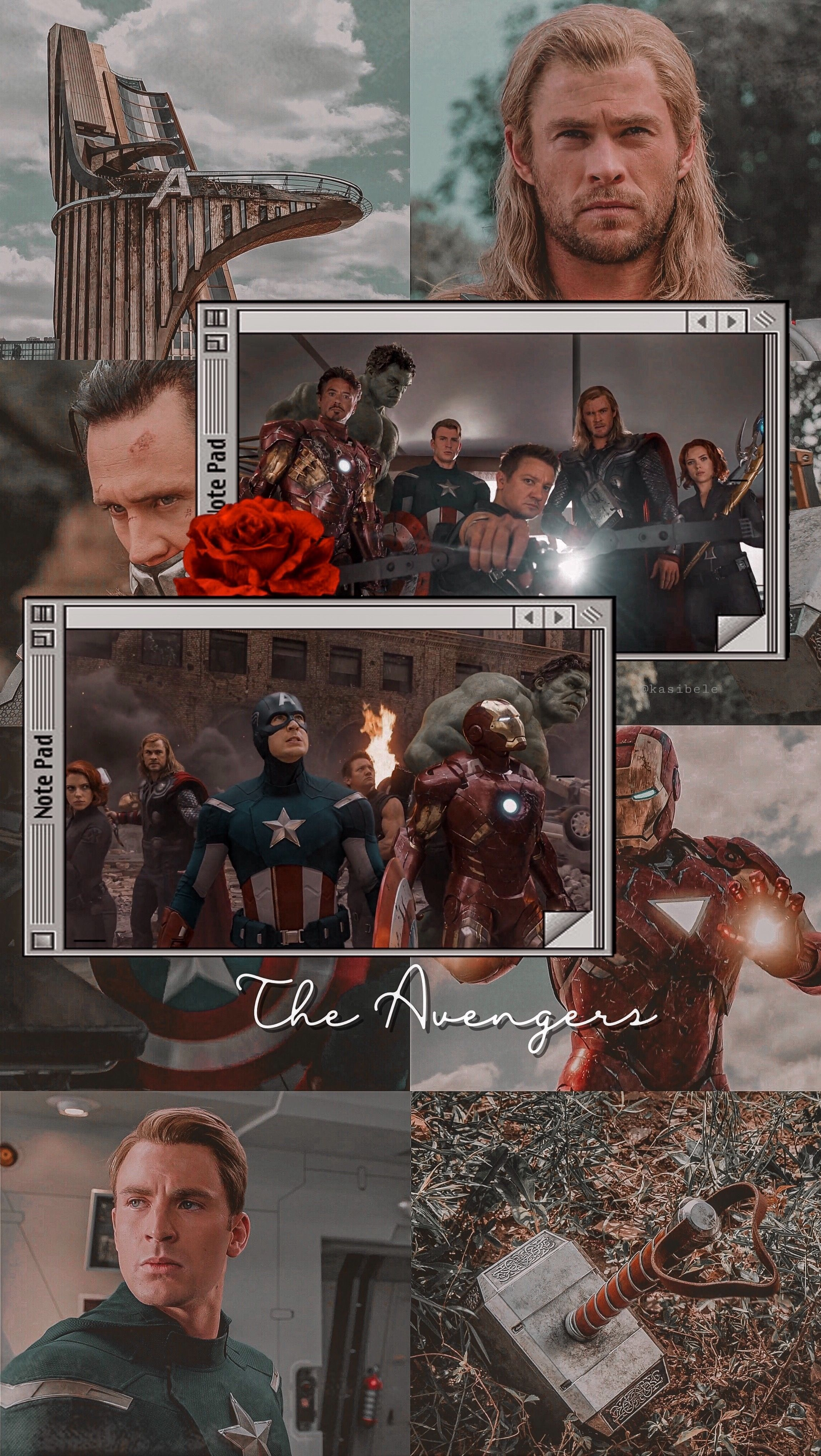 The Avengers | by @kasibele #wallpaperforyourphone