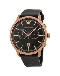 Araby Mall مول العرب ساعات امبريو ارماني تسوق اونلاين بافضل الاسعار وتو Black Leather Watch Leather Watch Emporio Armani