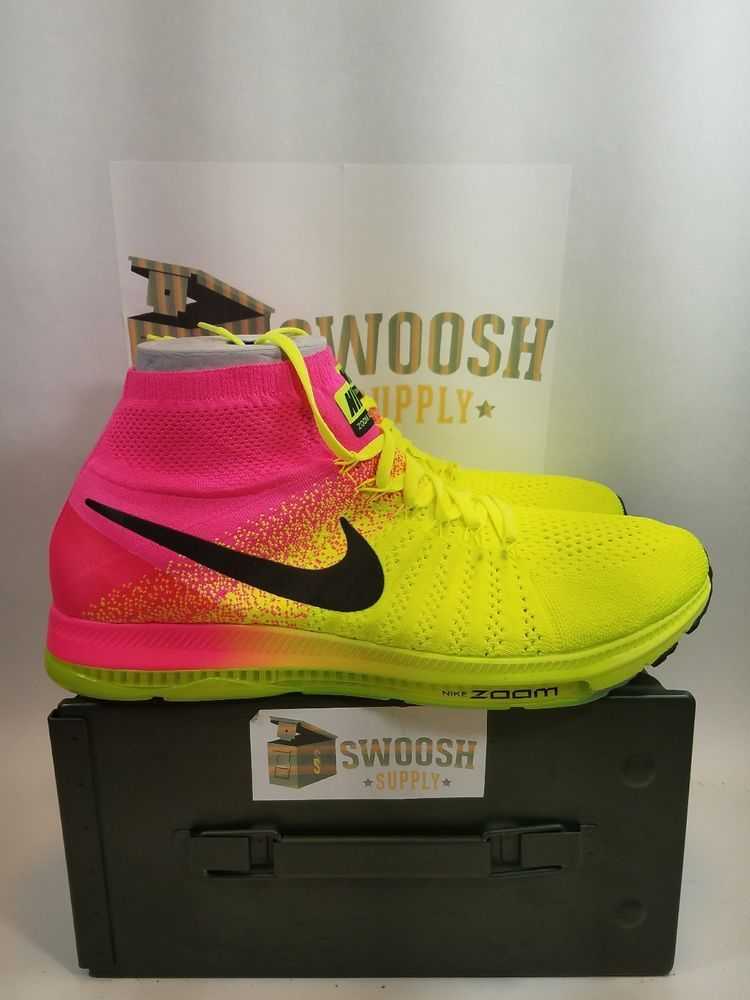 e80f6e00171 New Nike Zoom All Out Flyknit OC Olympic Collection Mens Size 14 845716-999   Nike  RunningCrossTraining