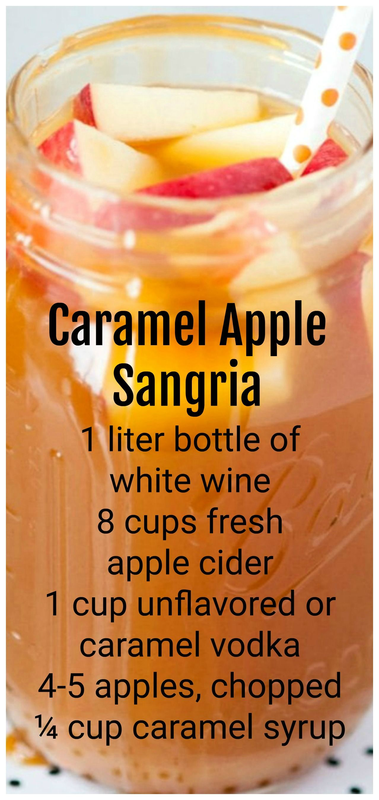 Caramel Apple Sangria #caramelapples