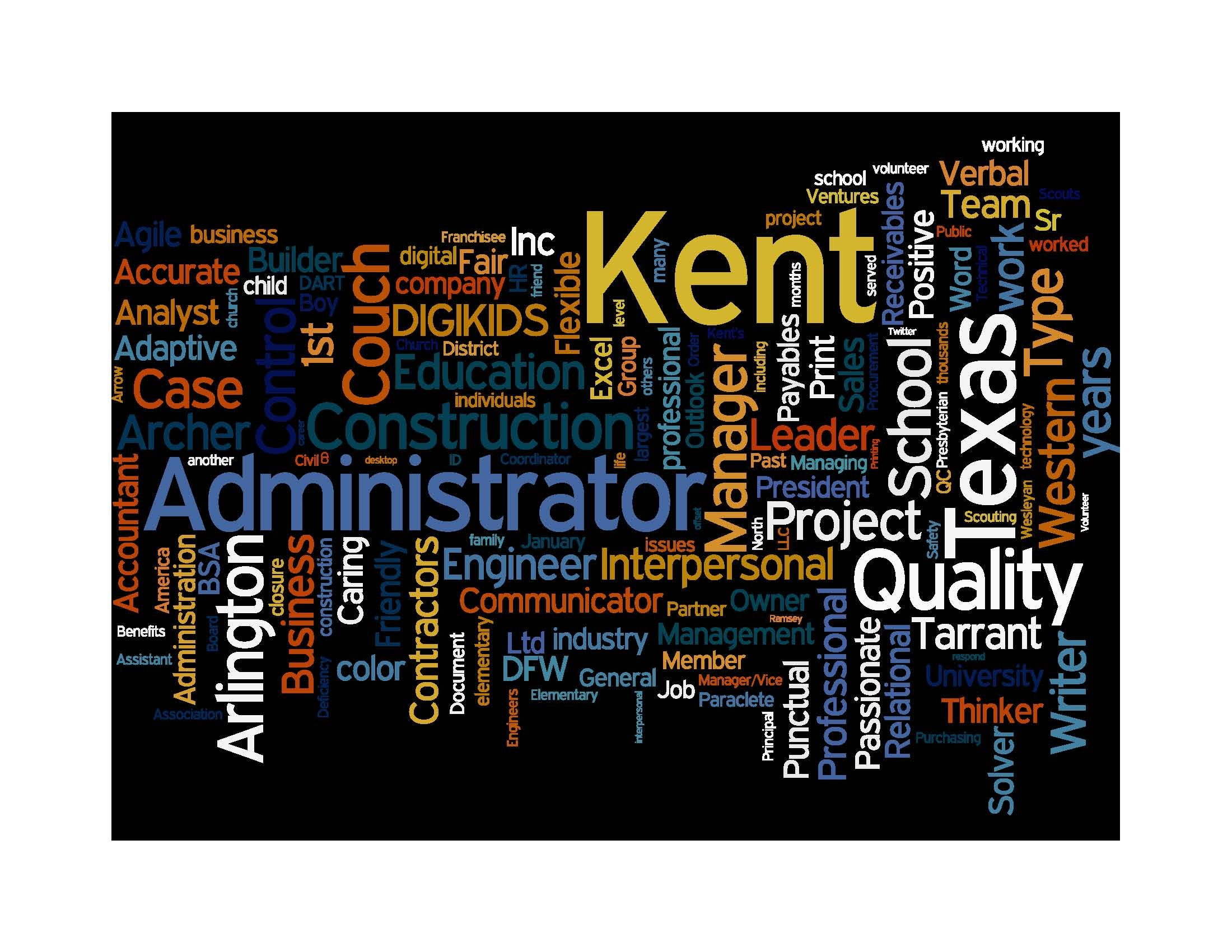 Kent couch resume write your resume as a word cloud