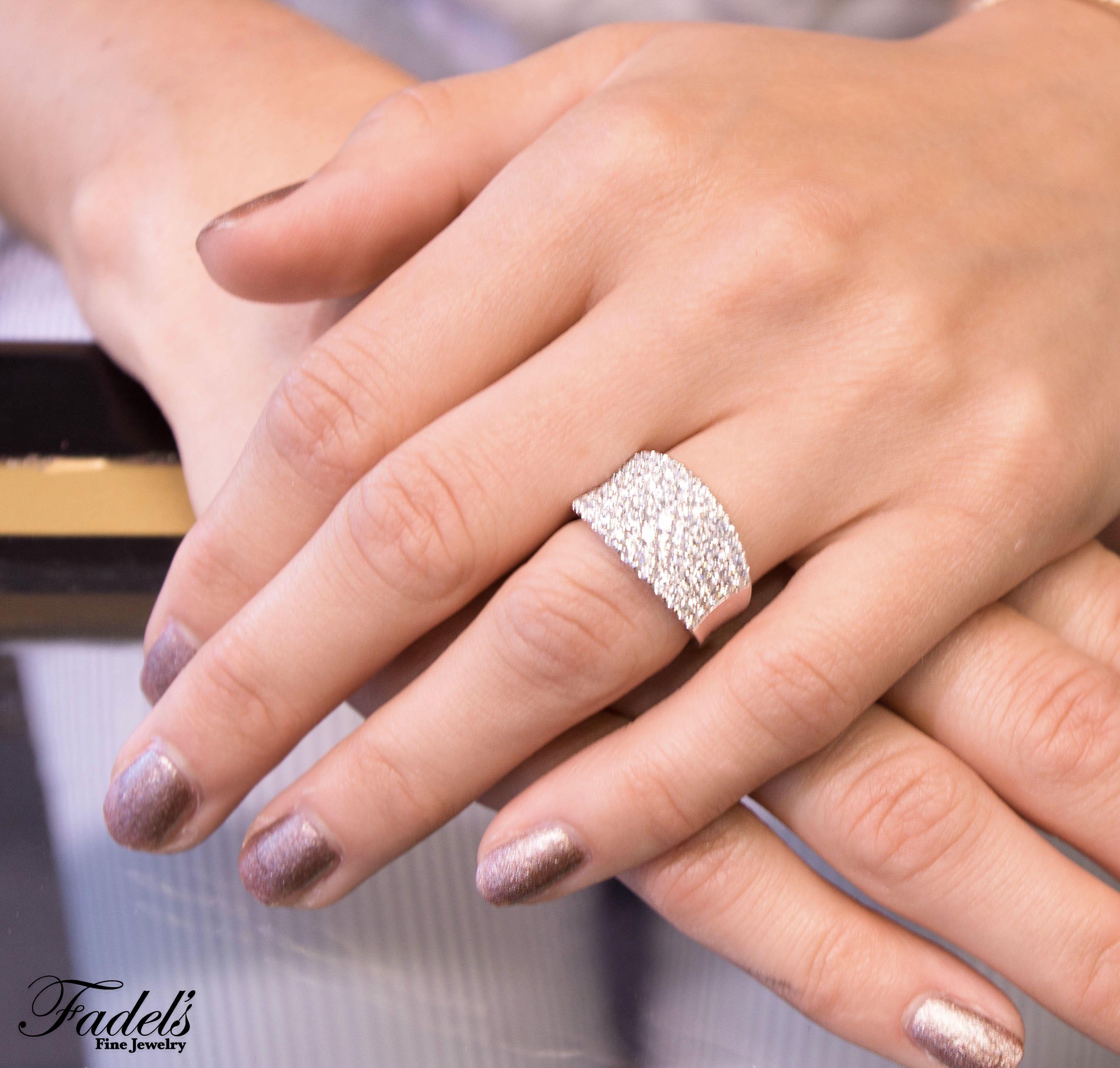 Right Hand Ring Diamond Band Diamonds Righthandring 14kw Wedding Diamondband Wideband Right Hand Rings Diamond Bands Hand Rings