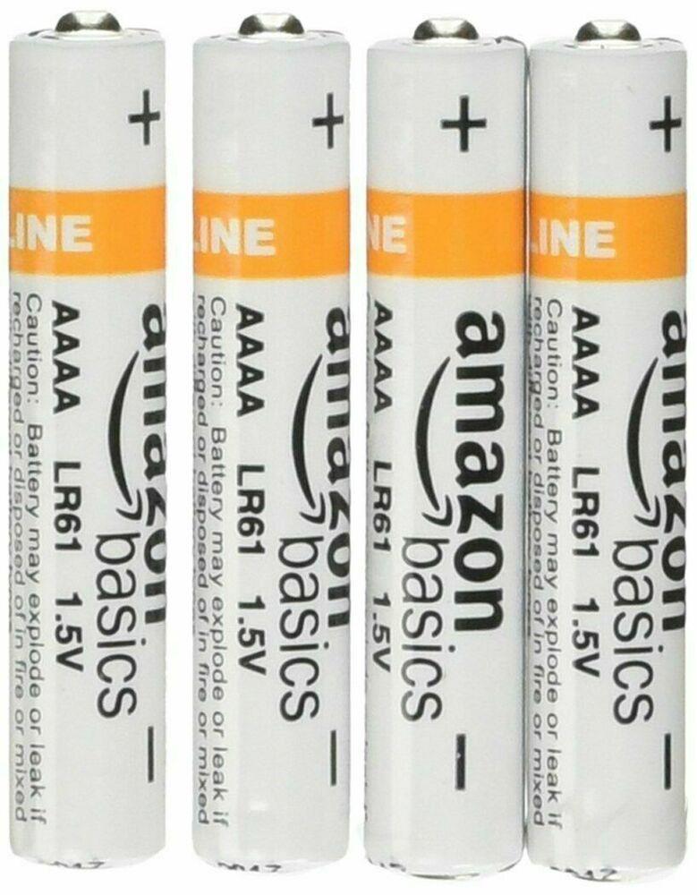 4-Pack Basics AAAA Everyday Alkaline Batteries 1 5V For