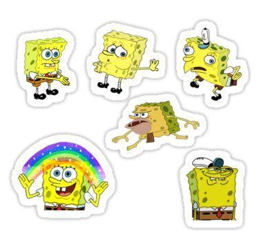Spongebob Meme Sheet 6 Pack Sticker In 2020 Meme Stickers Cute Stickers Spongebob